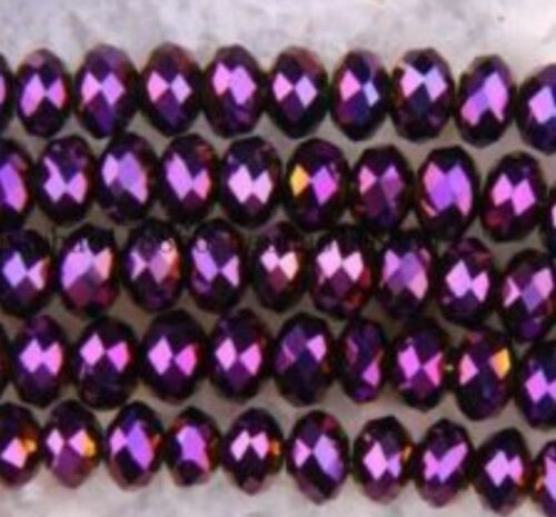 1000pcs Wholesale 27 colors 4x6mm  Crystal Faceted Roundel Loose Beads