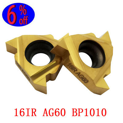2 pcs new 16IR AG60 CBN CNC carbide insert cutting tool For Finishing Working