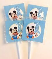 12 Mickey Mouse 1st Birthday Lollipops Candy For Party Favors Made In The U.s.a