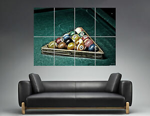 Image Is Loading Vintage Pool Table Snooker Sport Wall Art Poster