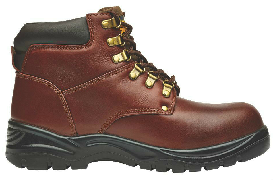 Site Stone Padded Safety Stiefel Chestnut - Padded Stone Collar and Tongue  PURCHASE TODAY  c70126
