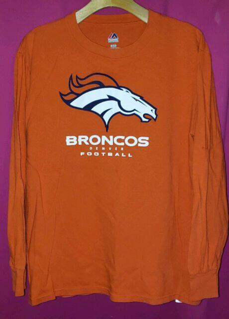 eda93bcc5 Denver Broncos Majestic Athletic Mens Sz M Critical Victory 3 Long Sleeve  Shirt