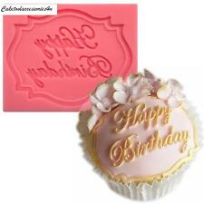 Happy Birthday Silicone Mould Cake Decorating Fondant Sugarcraft Cupcake Icing
