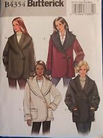 Easy/lovely Butterick 4354 Ms Loose-fitting Jackets Pattern Xs-s-m/4-14 Uc
