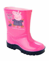 GIRLS PEPPA PIG PINK GLITTER WELLIES WELLINGTON RAIN BOOTS WELLYS UK SIZE 4-10
