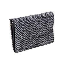 ladies Wallet Purse 100% Harris Tweed Grey Herringbone Brand New