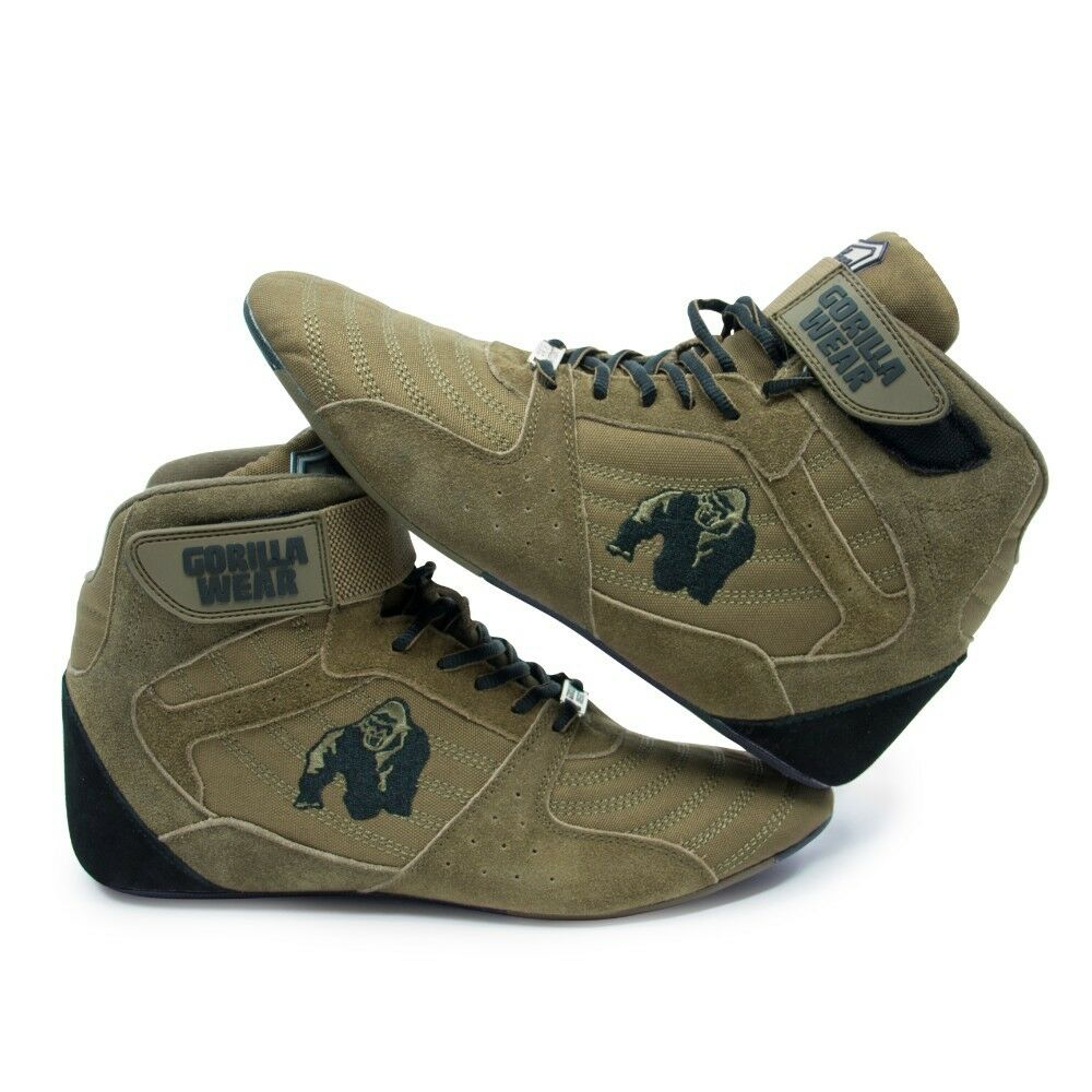 Gorilla Wear Perry High Tops Pro – – – Army Green Bodybuilding Fitness 36 - 47 564a35