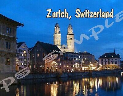 """Vintage Zurich Switzerland Travel Fridge Magnet Size 2.5/"""" x 3.5/"""""""
