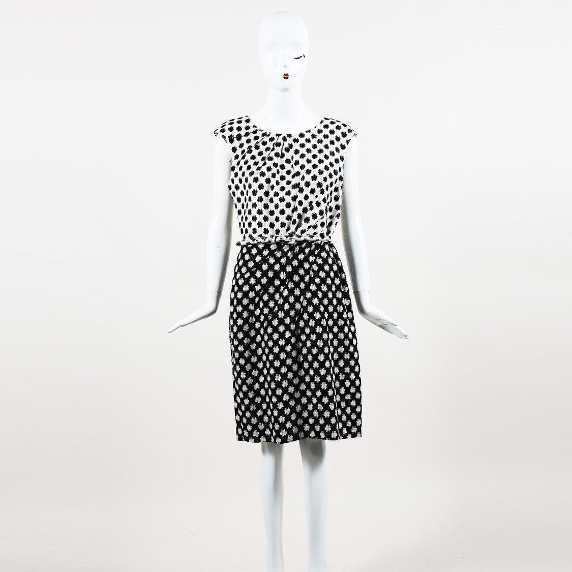 Oscar Oscar Oscar de la Renta Patterned Silk Dress SZ 8 4a3cac