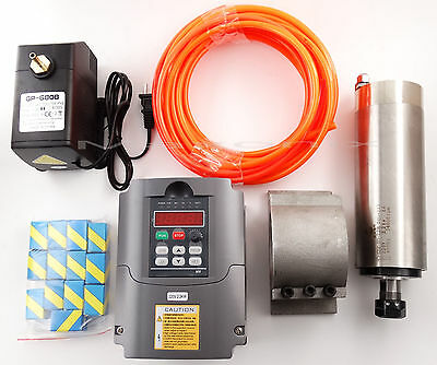 CNC 2.2KW Spindle Motor + Frequency inverter + Mount + ER20 Collet + water-pump