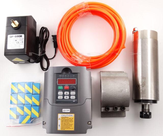 CNC 2.2KW Spindle Motor + Frequency inverter + Mount + ER20 Collet + water-pump