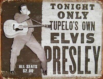 garage decoration ideas Elvis Aron Presley metal tin sign US SELLER