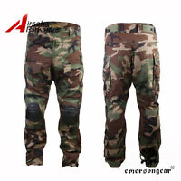 Tactical Pants W/ Knee Pads Army Military Combat Trousers For Men Woodland S/xl