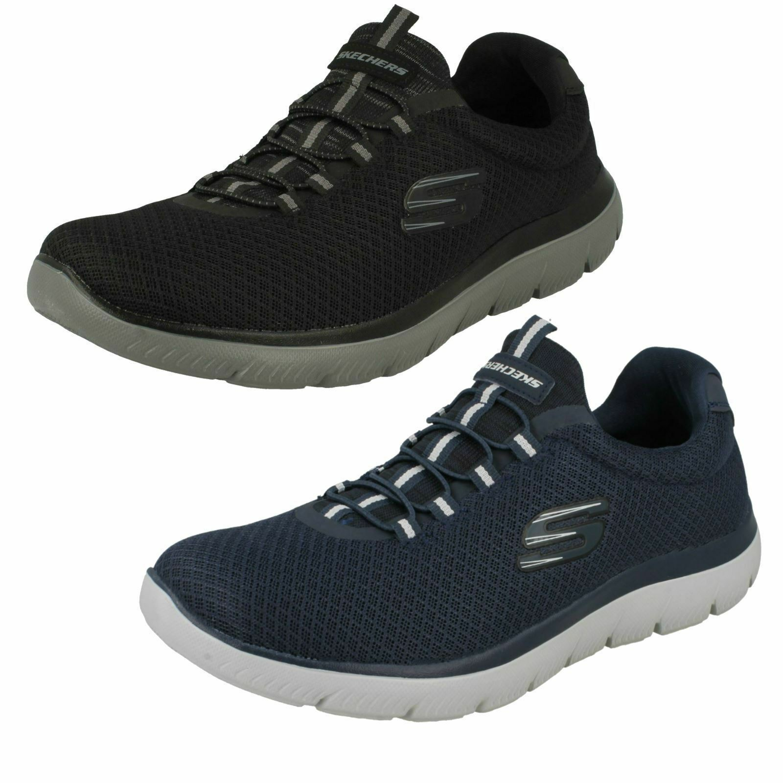 finest selection 258ad 3e45c Mens 52811 Summits Lace Elastic Trainers On Slip Casual Foam ...