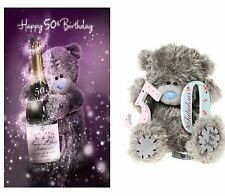 """50th Birthday Card & Gift Pack - 50th 3D Card & 7"""" 50th Plush Soft Toy Present"""