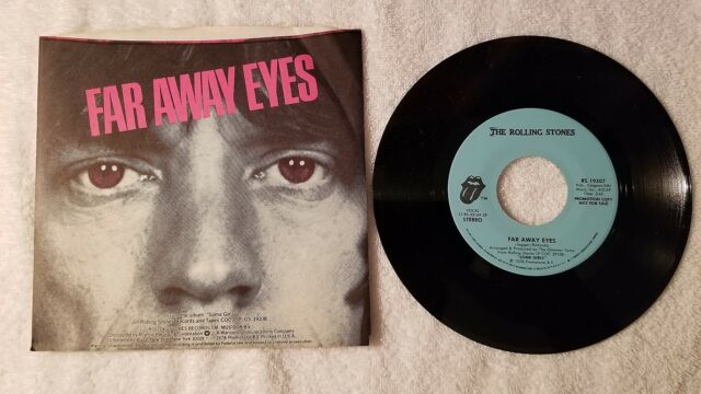 THE ROLLING STONES Far Away Eyes PROMO ONLY 7