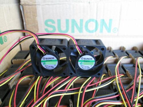 Set of 2x quiet fans for 3COM BASELINE Switch 2916 SFP Plus 12dB Noise Sunon Fan