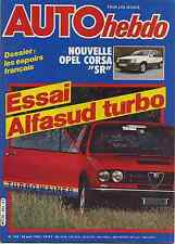 AUTO HEBDO n°332 25/05/1982 ALFASUD TURBO RALLYE BRESIL