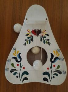 Vintage Welcome Door Harp Pennsylvania Dutch Distlefink Tulips Heart Japan