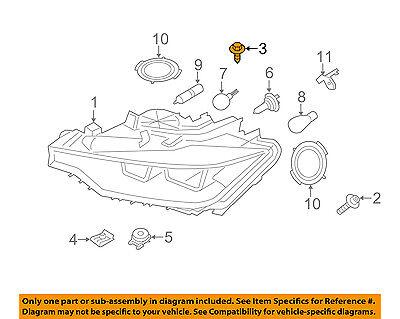 BMW OEM 12-16 328i Headlight Head Light Lamp-Headlamp Housing Bolt 07146961201