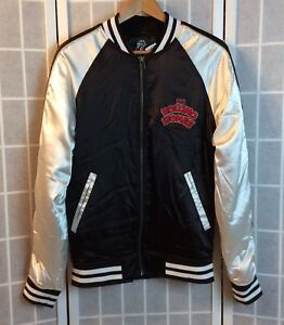 51f857378 Details about PACSUN MEN'S ROLLING STONES EMBROIDERED VARSITY/BOMBER  JACKET- SIZE MEDIUM- NWT