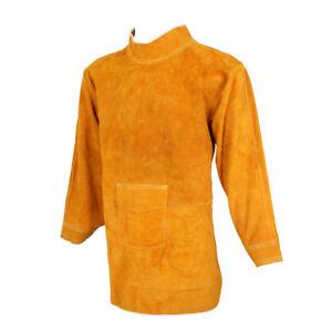 Welding Coat Apron Protective Clothing Apparel 85cm Yellow