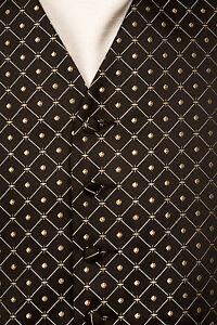 MENS-BLACK-GOLD-DIAMOND-WEDDING-DRESS-PROM-CRUISE-BALL-WAISTCOAT-34-36-38-40