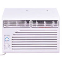5000 Btu White Compact 115v Window-mounted Air Conditioner W/ Mechanical Control