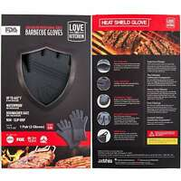 Innovative Barbecue Gloves Grillmaster Professional Heat Resistant Silicone (l)