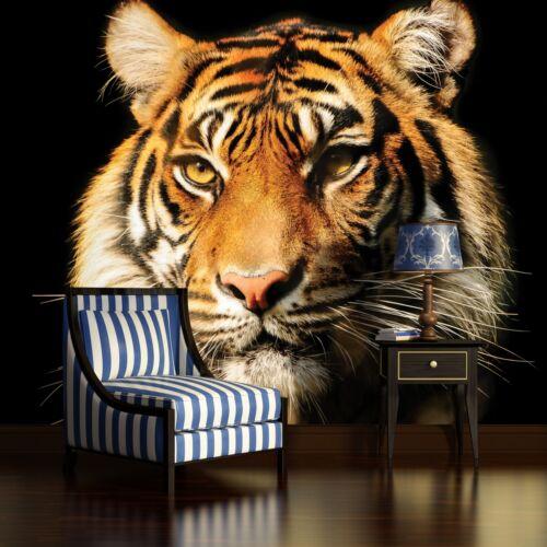 Poster papiers peints photos papier peint la fresque papier peint photo animaux tigre noir 1964 p4