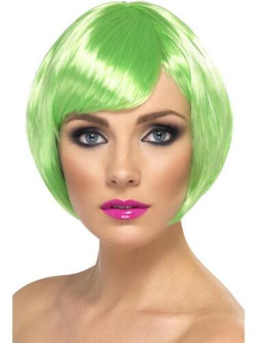 Ladies Smiffy/'s fancy dress short bob babe wig Green,brown choose colour......