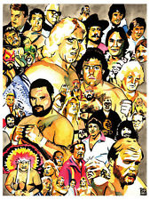 Jim Crockett Promotions Legends Poster, NWA Mid-Atlantic Wrestling, Ric Flair