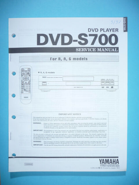 Service Manual For Yamaha Dvd
