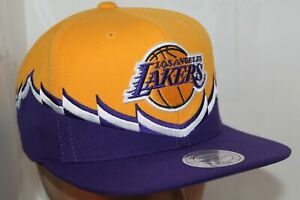 Los-Angeles-Lakers-Mitchell-amp-Ness-NBA-Steal-Snapback-Hat-Cap-45-00-NEW