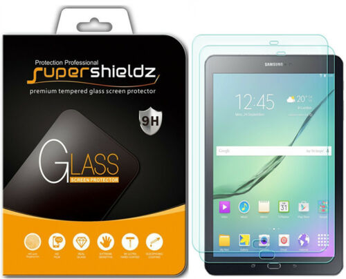 2x Supershieldz Galaxy Tab S2 9.7 Tab S3 9.7 Tempered Glass Screen Protector