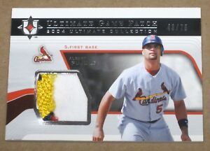 2004-Ultimate-Collection-Game-Patch-Albert-Pujols-CARDINALS-LOGO-JERSEY-Card-1-1