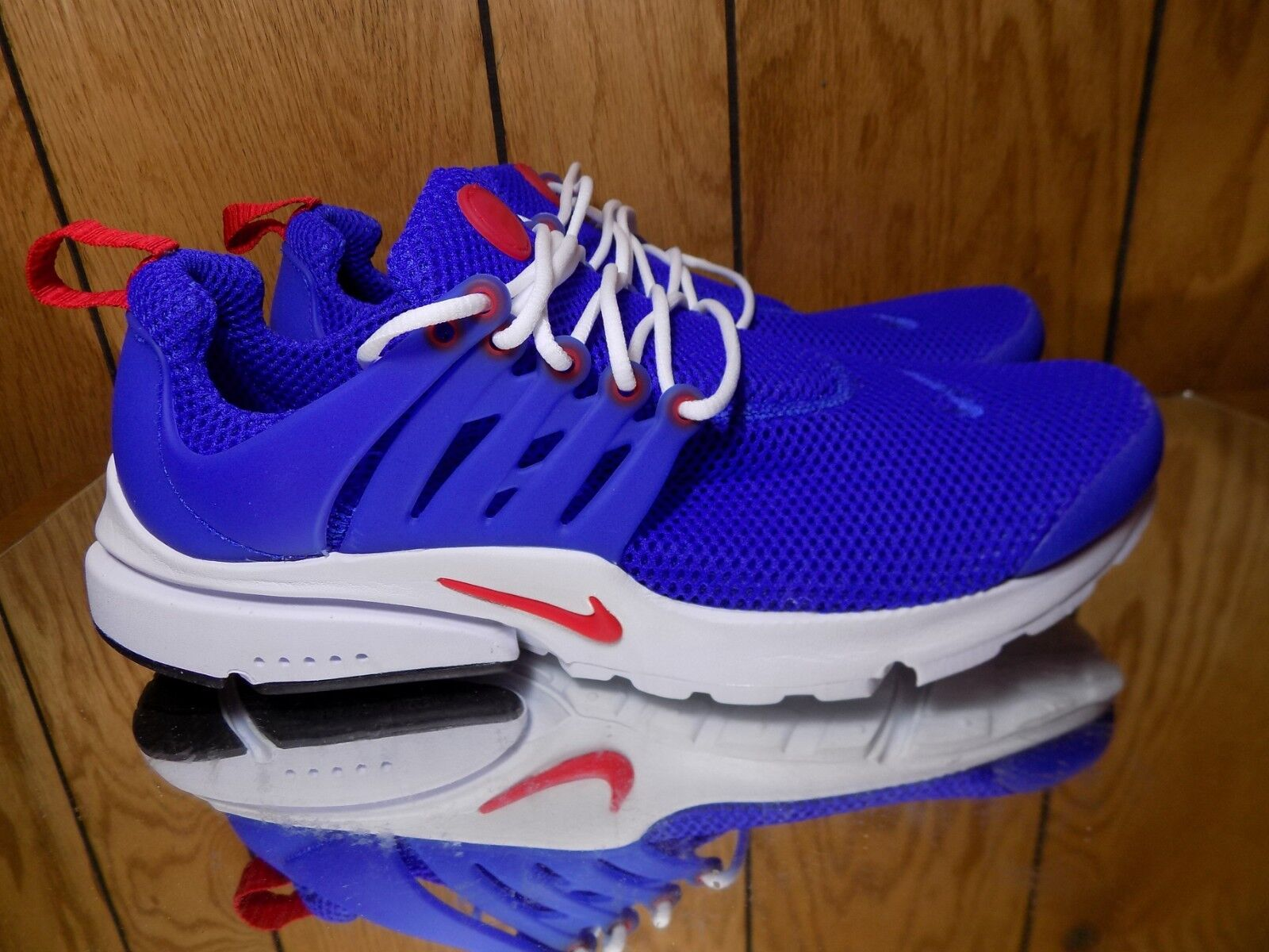 New Nike Men's Air Presto Essential shoes (848187-408) Bright blueee  White-Red s
