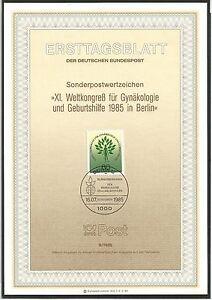 BRD-1985-Ersttagsblatt-Weltkongress-fuer-Gynaekologie-Sonderpostwertzeichen-9-1985