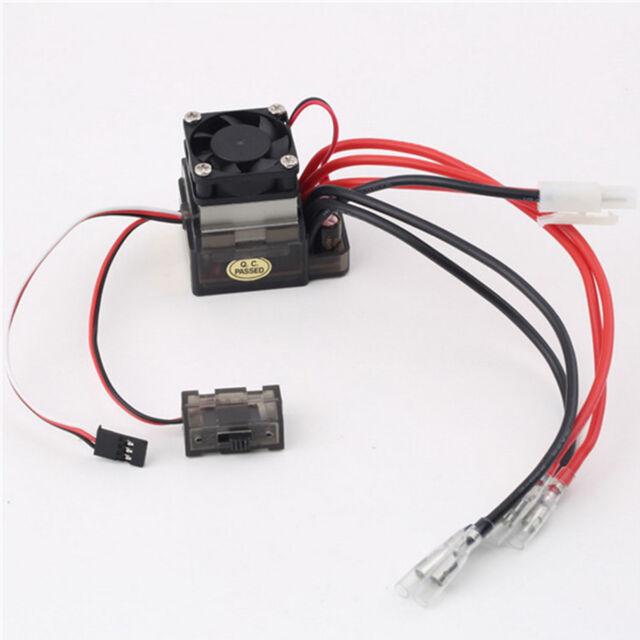 320A High Voltage ESC Brushed Speed Controller Set for RC Car Truck 7.2V-16V
