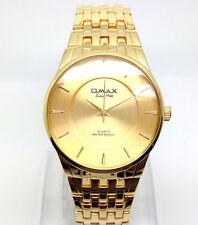 078o OMAX Men's Boys Slim Dress Wrist Watch Classic New Gold Strap Dial Quartz