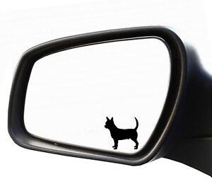 2x spiegel aufkleber chiwawa chihuahua bulldogge for Spiegel aufkleber