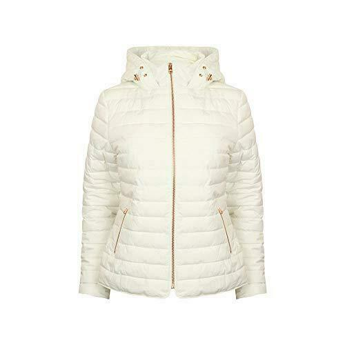 TOKYO LAUNDRY WOMENS HOODED PADDED QUILTED PUFFA COAT JACKET 3J8531A