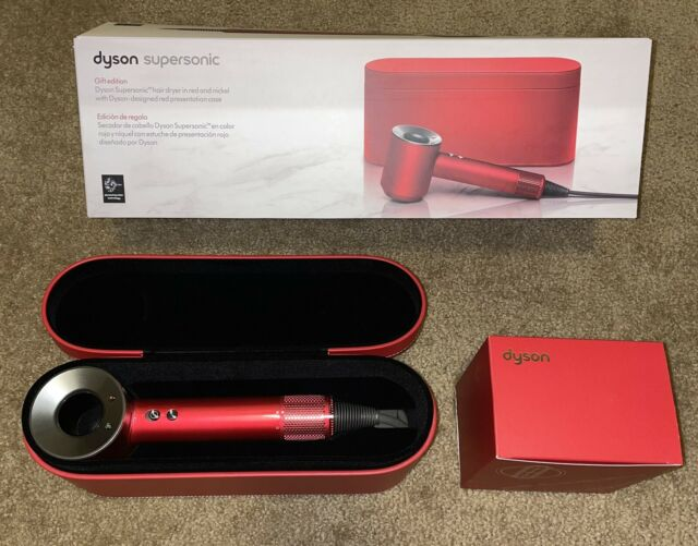BRAND NEW Dyson Supersonic Hair Dryer  in Nickel/Red ~Special Edition Red Case~.