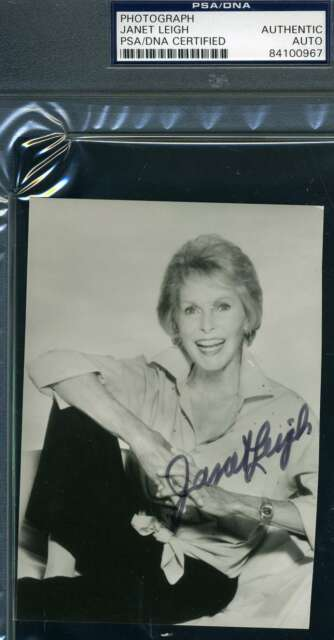 JANET LEIGH PSA DNA Coa Hand Signed Photo Autograph Authentic