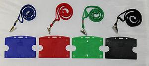 ID-badge-Holder-amp-Lanyard-ID-Card-Holder-4-colours-QTY-5-10-20-25-50-100