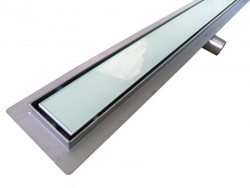 Caniveau de sol grand débit pour douche plain pied en verre GL02, 600mm