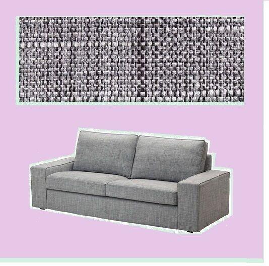 Marvelous Ikea Kivik2 Seatloveseat Sofa Cover Isunda Gray Tweed Add Ottoman W Offer New Bralicious Painted Fabric Chair Ideas Braliciousco