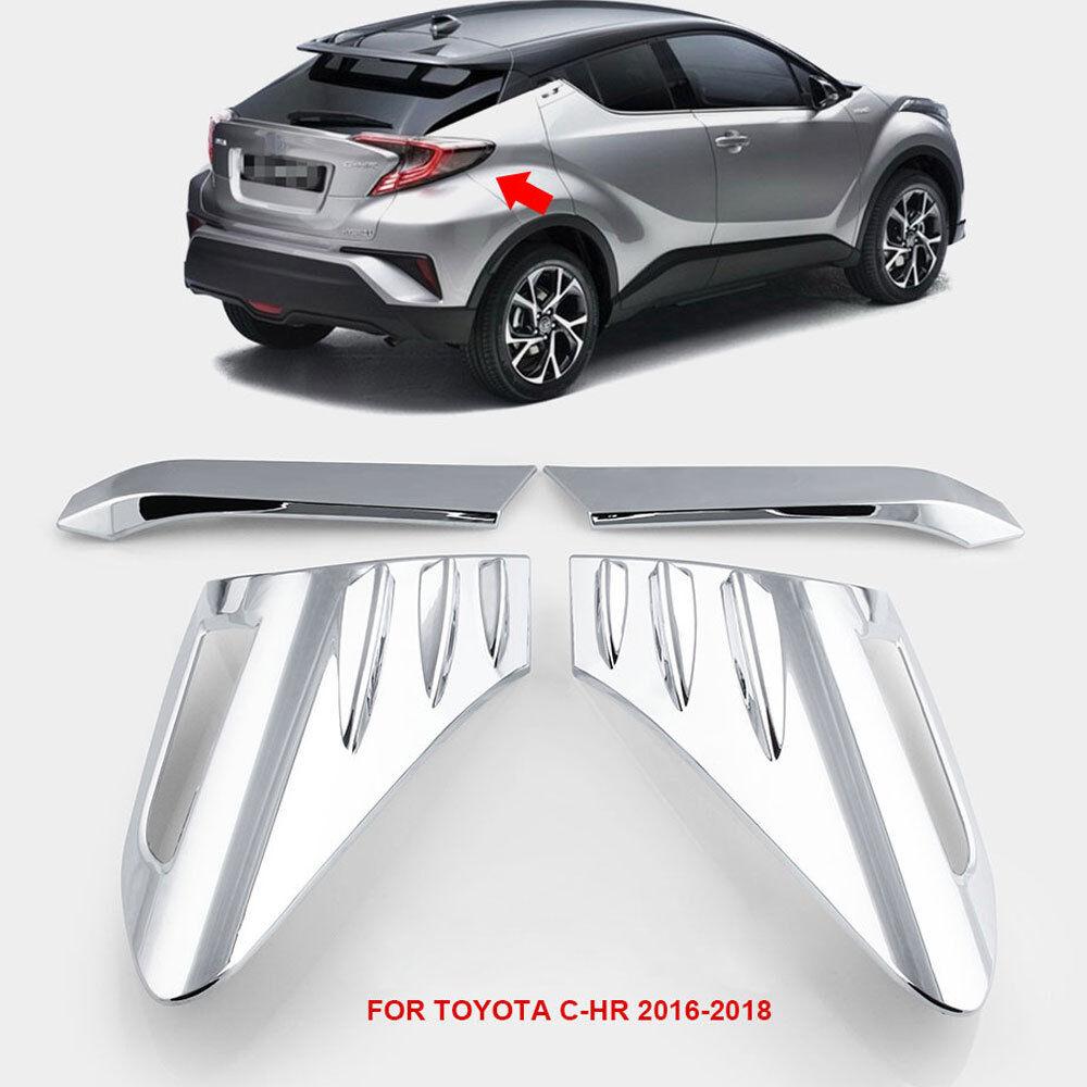 Car Rear Back Lamp Tail light Cover Trim For Toyota C-HR CHR 2016-2018 Chrome