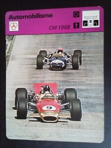 Sheet Editions Rencontre S.A Lausanne Motoring CM 1968