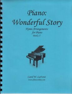 Church Hymn Arrangements for Piano WONDERFUL STORY Solo Offertory Worship #17